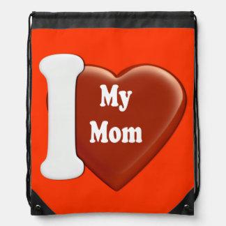I coeur ma maman sac avec cordons