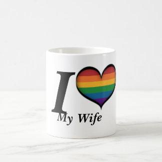 I coeur mon épouse mug blanc