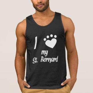 I coeur mon St Bernard Tee-shirts Sans Manches