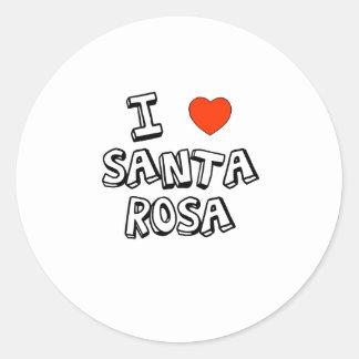 I coeur Santa Rosa Sticker Rond