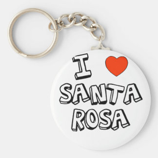 I coeur Santa Rosa Porte-clé Rond