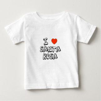 I coeur Santa Rosa T-shirt Pour Bébé