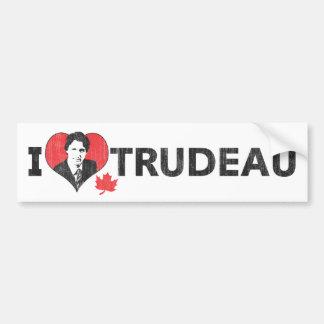 I coeur Trudeau Autocollant De Voiture