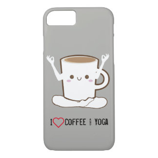 I ❤ Coffee and Yoga Case-Mate iPhone Case