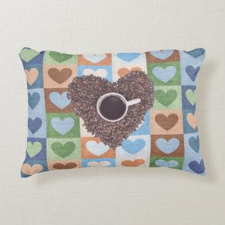 "I ♥ Coffee Custom Cotton Accent Pillow 16"" x 12"""