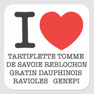 I Coil Tartiflette Square Sticker