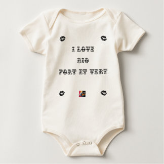 I coils Bio (EXTREMELY AND GREEN) - Word games Baby Bodysuit