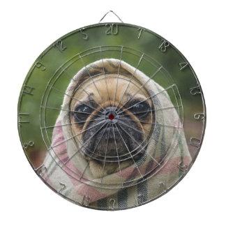 I Come in peace pug dog Dartboard