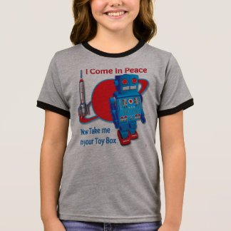 I Come in Peace Robot T shirt