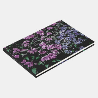 I Come To The Garden Alone Memorial Funeral Guest Book