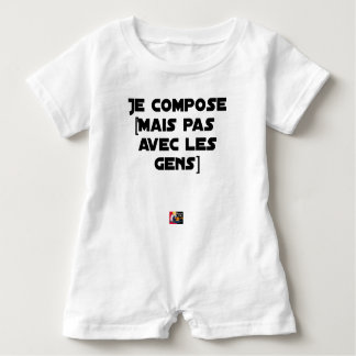 I COMPOSE (BUT NOT WITH PEOPLE) - Word games Baby Romper