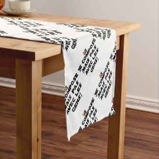 I COMPOSE (BUT NOT WITH PEOPLE) - Word games Short Table Runner