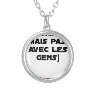 I COMPOSE (BUT NOT WITH PEOPLE) - Word games Silver Plated Necklace