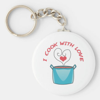I COOK WITH LOVE KEYCHAIN