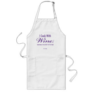 """""""I Cook With Wine"""" Long Apron"""