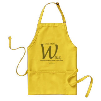 I Cook With Wine Standard Kitchen Apron
