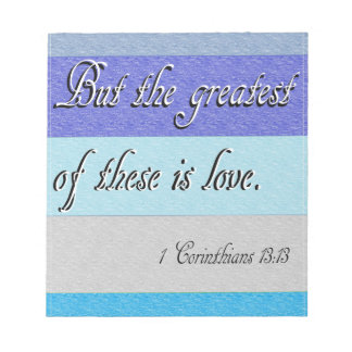 I Corinthians 13 Notepad