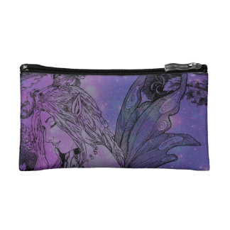 I Cosmetic Bag - Small Moonlit Peony Fairy