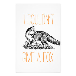 I Couldn't Give a Fox Stationery