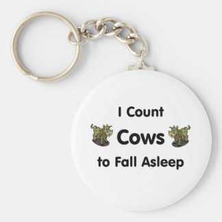 I Count Cows To Fall Asleep Keychain