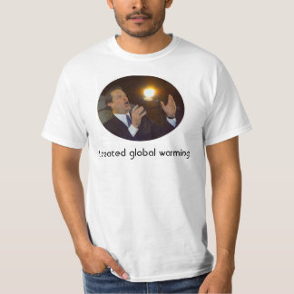 I created global warming T-Shirt