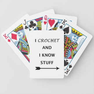 I Crochet And I know Stuff Poker Deck