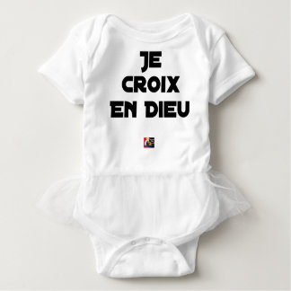 I CROSS AS a GOD - Word games - François City Baby Bodysuit