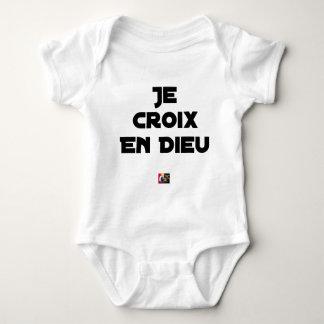 I CROSS AS a GOD - Word games - François City Baby Bodysuit