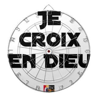 I CROSS AS a GOD - Word games - François City Dartboard