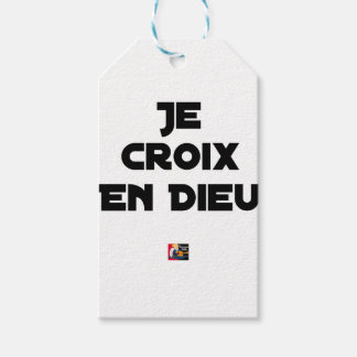 I CROSS AS a GOD - Word games - François City Gift Tags