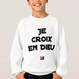 I CROSS AS a GOD - Word games - François City Sweatshirt