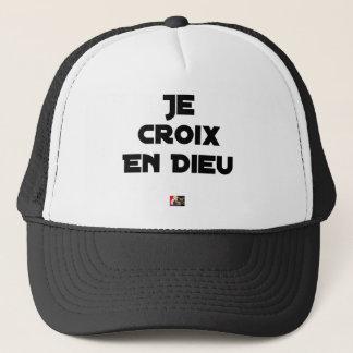 I CROSS AS a GOD - Word games - François City Trucker Hat