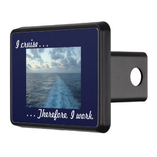 I cruise Therefore Blue Trailer Hitch Cover