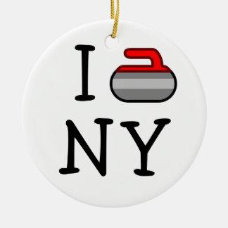 I Curl NY ~Ardsley Curling Club Ceramic Ornament