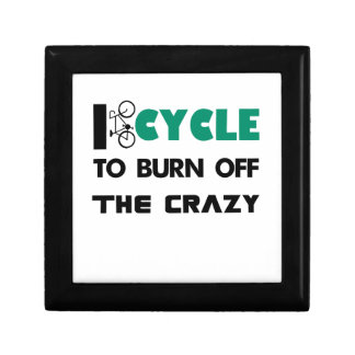 I cycle to burn off the crazy, bicycle gift box