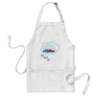 I d rather be Boat Racing Aprons