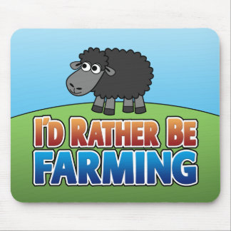 I d Rather be Farming Virtual Farming Mouse Pads