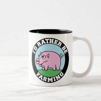 I d Rather be Farming virtual farming Mugs