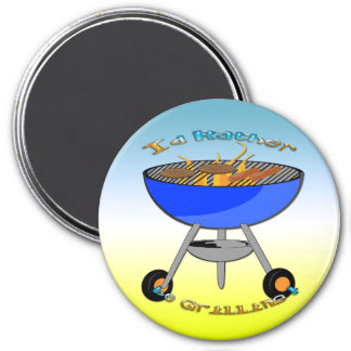 I d Rather Be Grilling Round Magnet