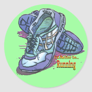 I d Rather Be Running - Sneakers Stickers