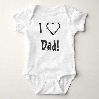 I ❤️ Dad! Baby Bodysuit