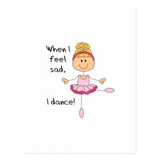 I DANCE POSTCARD