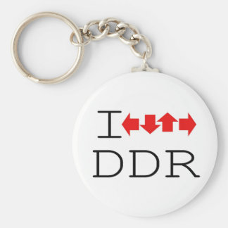 I DDR BASIC ROUND BUTTON KEYCHAIN