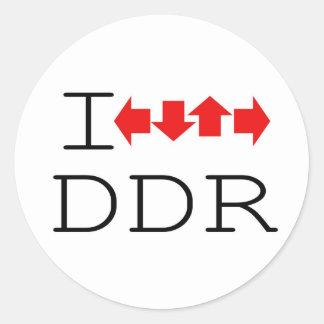 I DDR ROUND STICKERS
