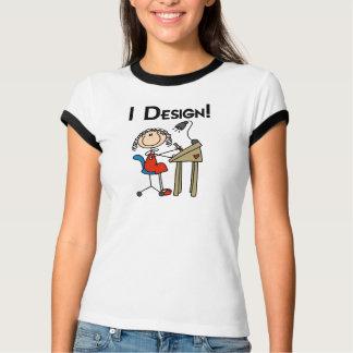 I Design Ringer T-shirt
