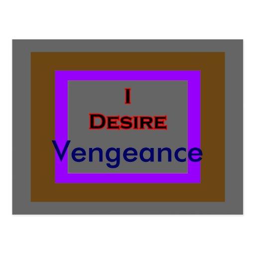 I Desire Vengeance Postcards