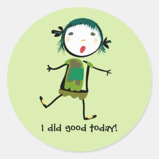 I did good today classic round sticker