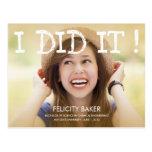 I Did It! Graduation Announcement /Invite