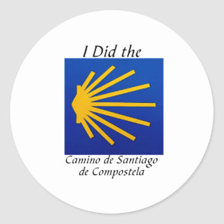 I Did the Camino de Santiago Classic Round Sticker