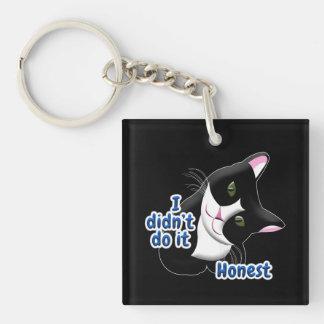 I didn't do it Cat Keychain